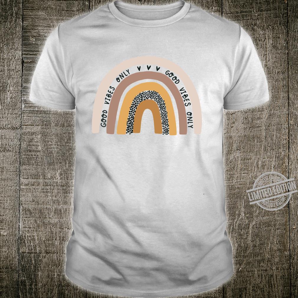Good Vibes Only Rainbow Pastel Boho Retro Summer Trending Shirt