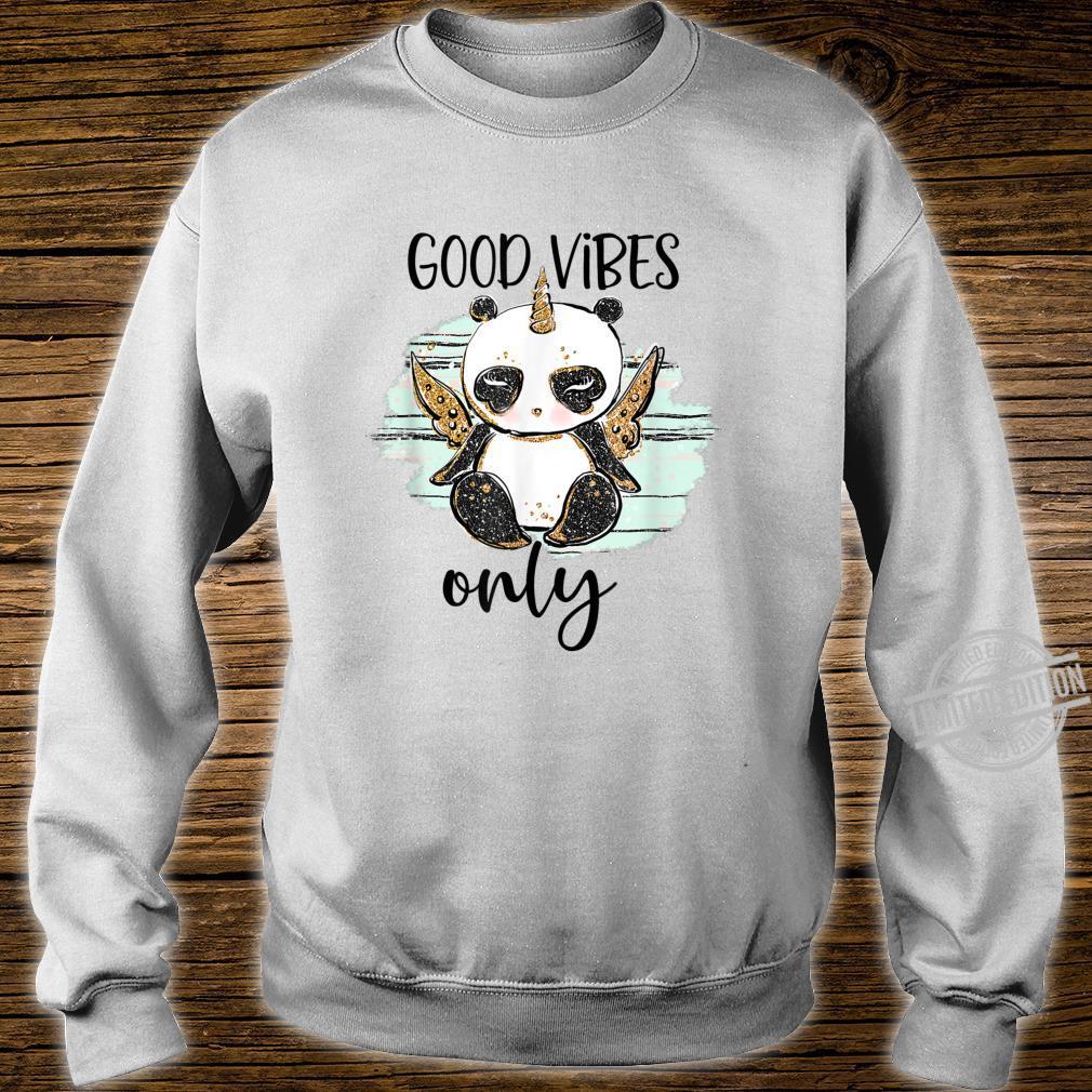 Good Vibes Only Shirt, Pandacorn, Apparel, Panda Shirt sweater