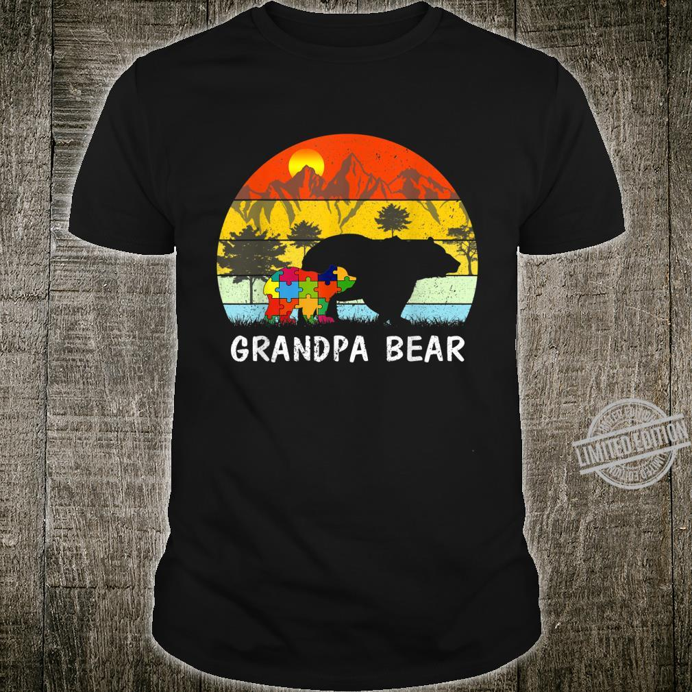 Grandpa Bear Autism Awareness Love Support Baby Bear Shirt
