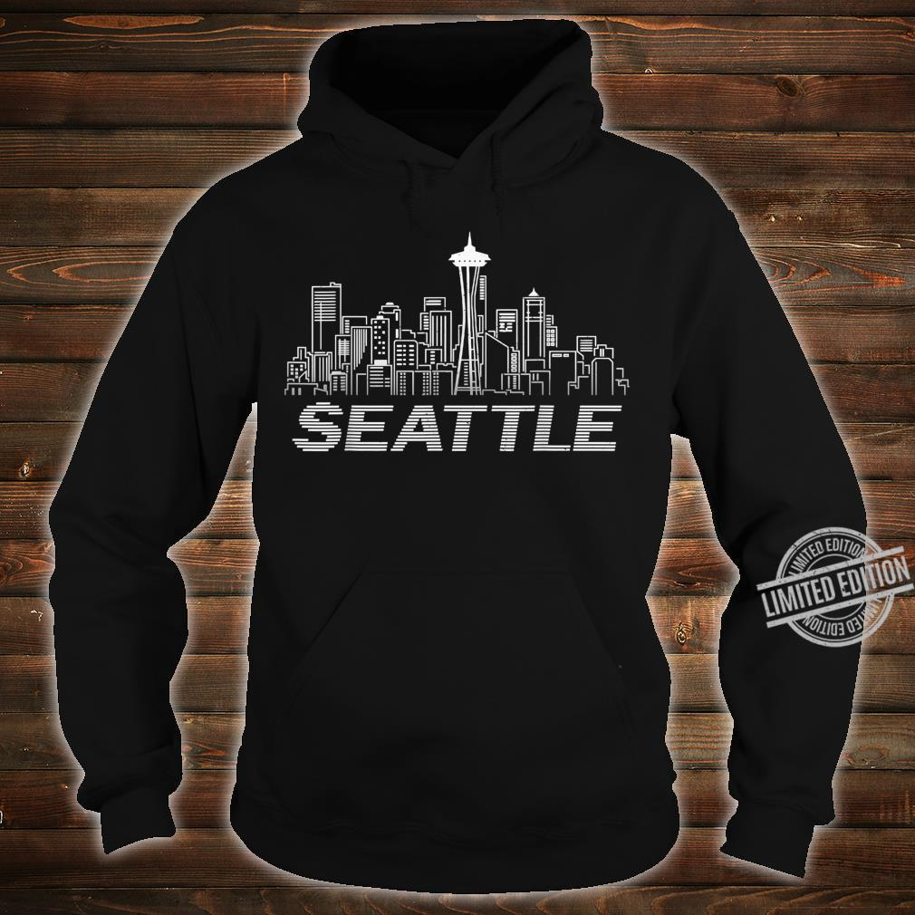 Grunge Seattle Skyline Distressed Look design Shirt hoodie