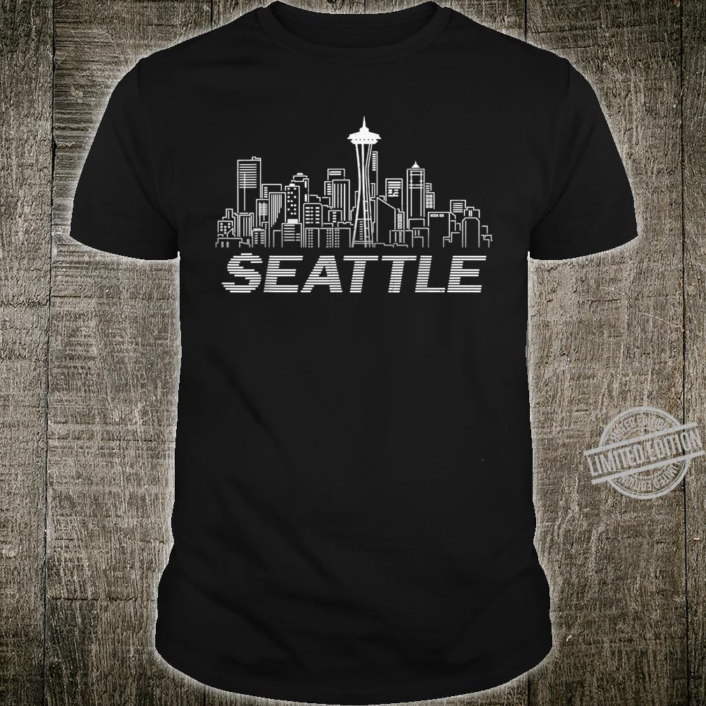 Grunge Seattle Skyline Distressed Look design Shirt