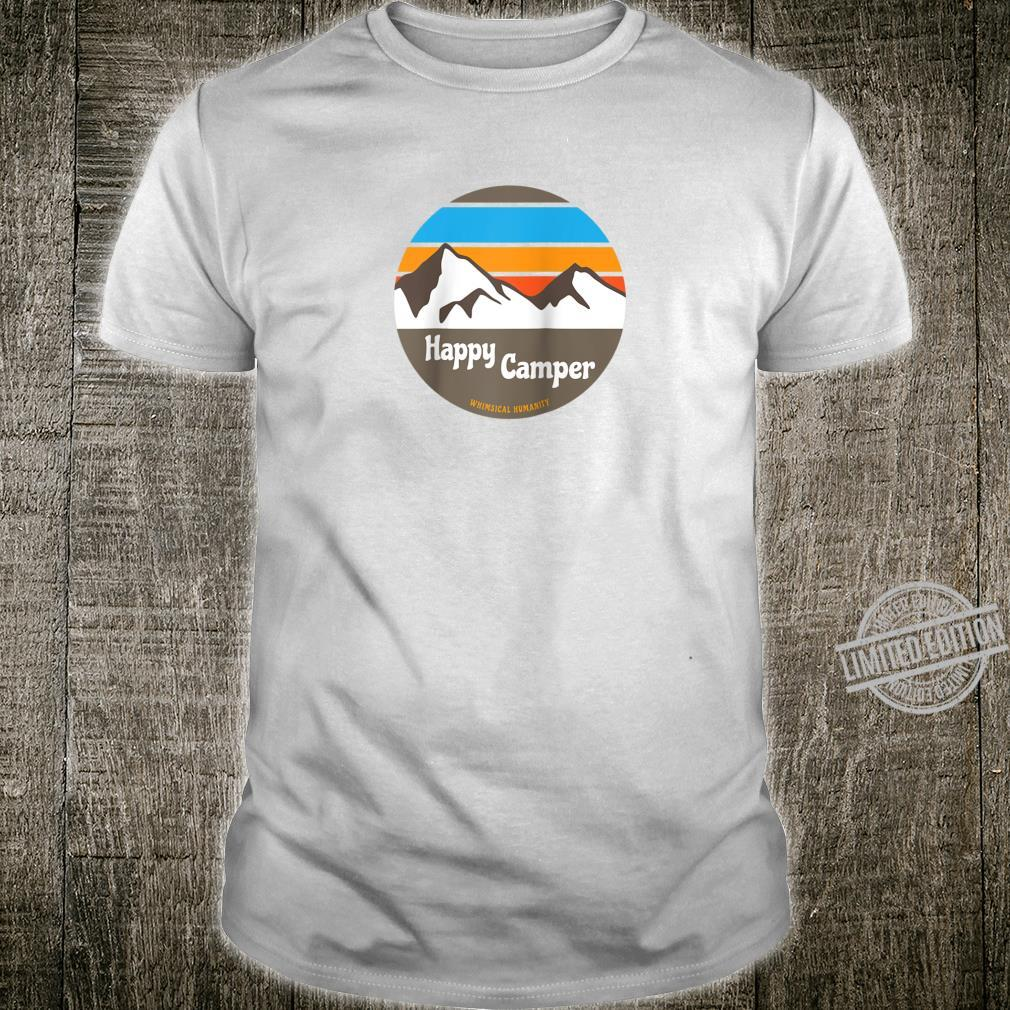 Happy Camper Mountain Scene Mellow Colors Shirt