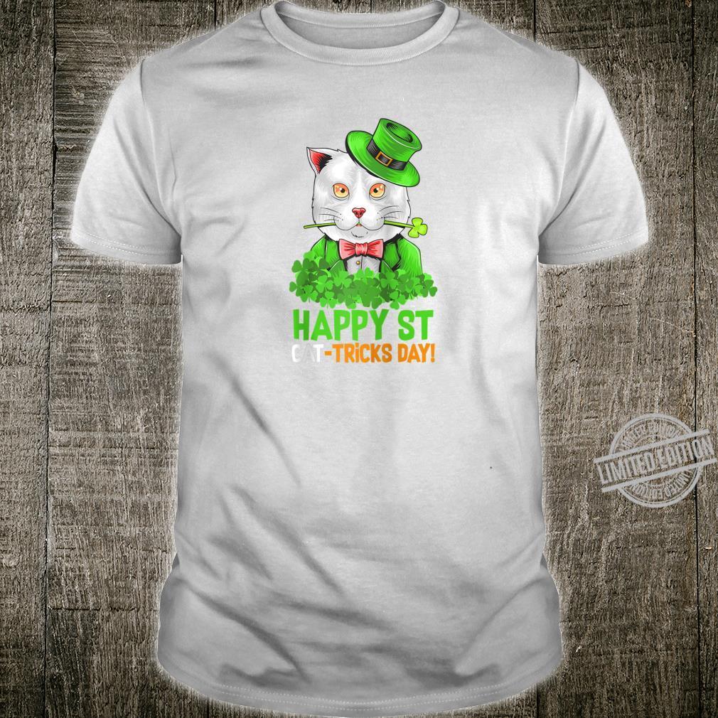 Happy St Cat Tricks Day Tee St Patrick's Day Shirt