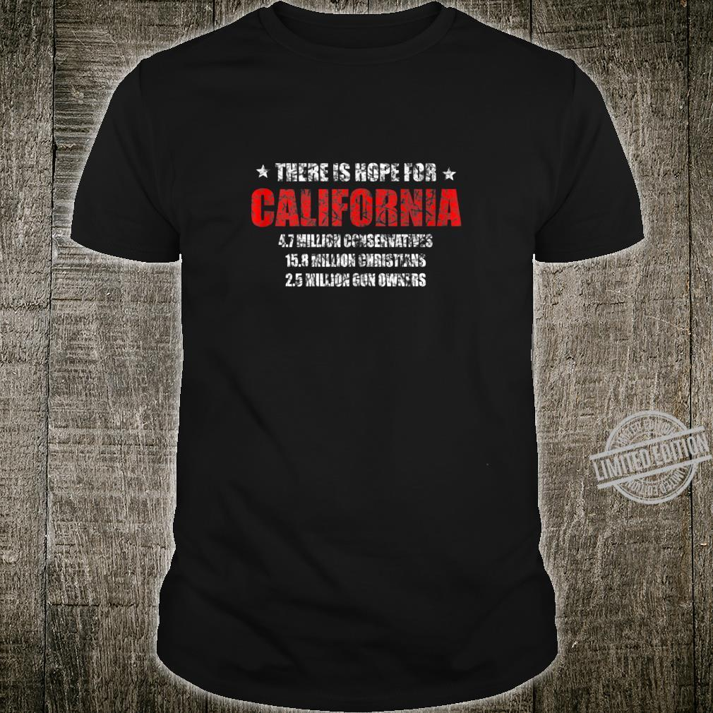 Hope for California Conservatism Statistics Shirt