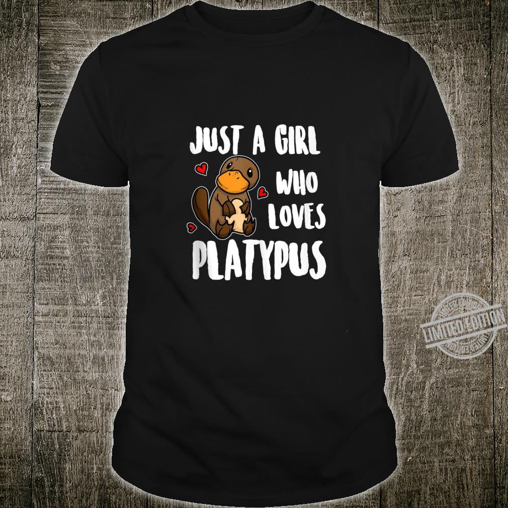 Just A Girl Who Loves Platypus Platypus Costume Shirt