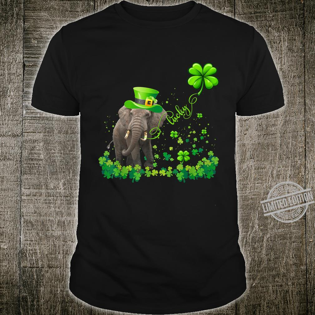 Lucky Elephant Shamrock St Patrick's Day Shirt