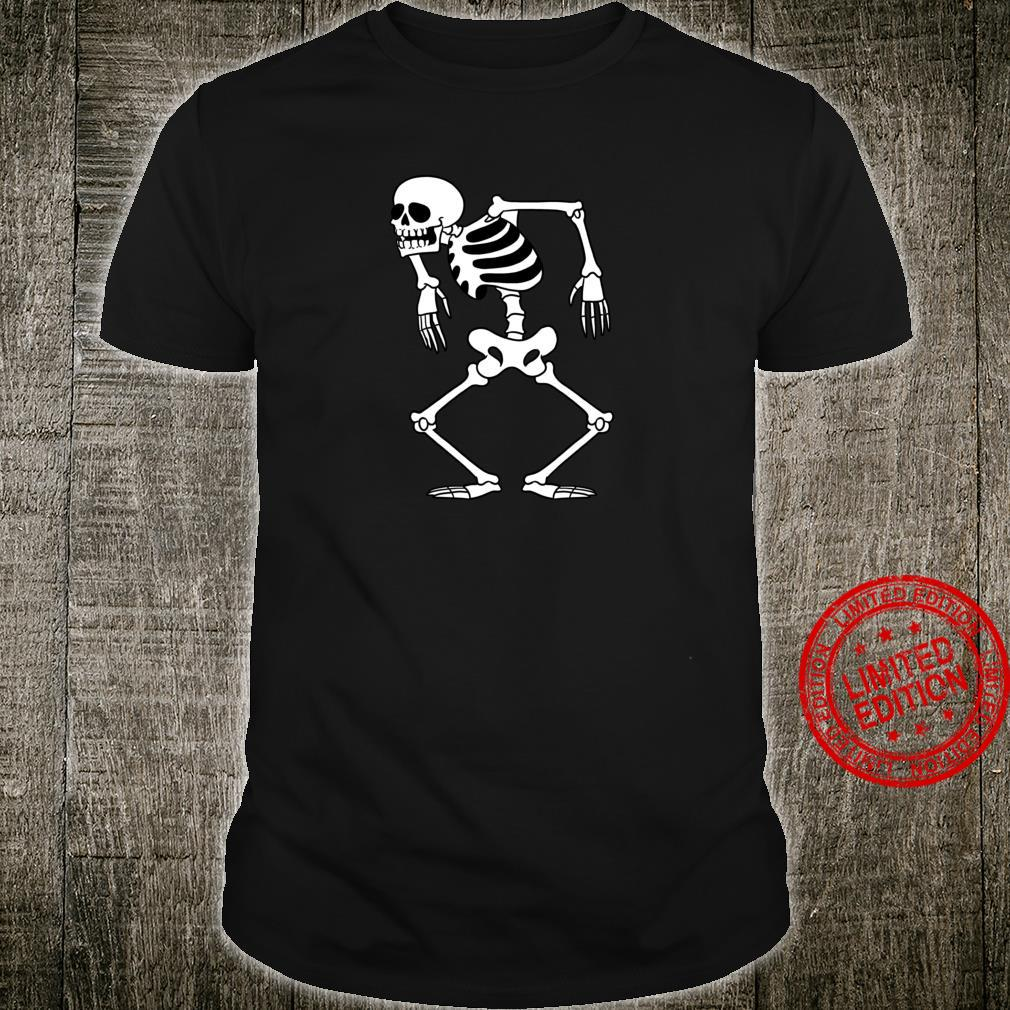 Lustiger WeinleseTodesschädelSkelettTanz für GothMädchen Shirt