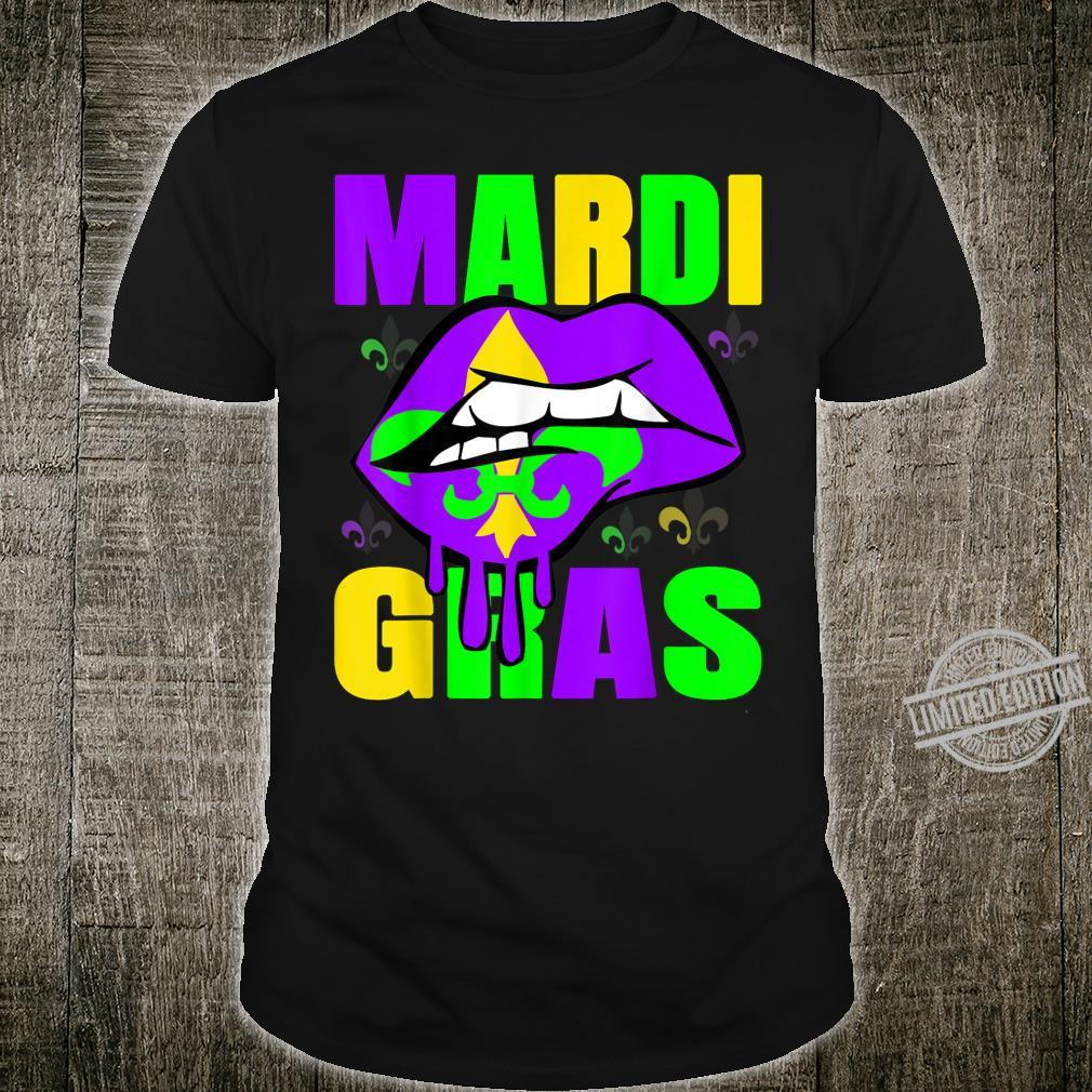 Mardis Gras Trump Kissing Lips Carnival Festival 2020 Shirt