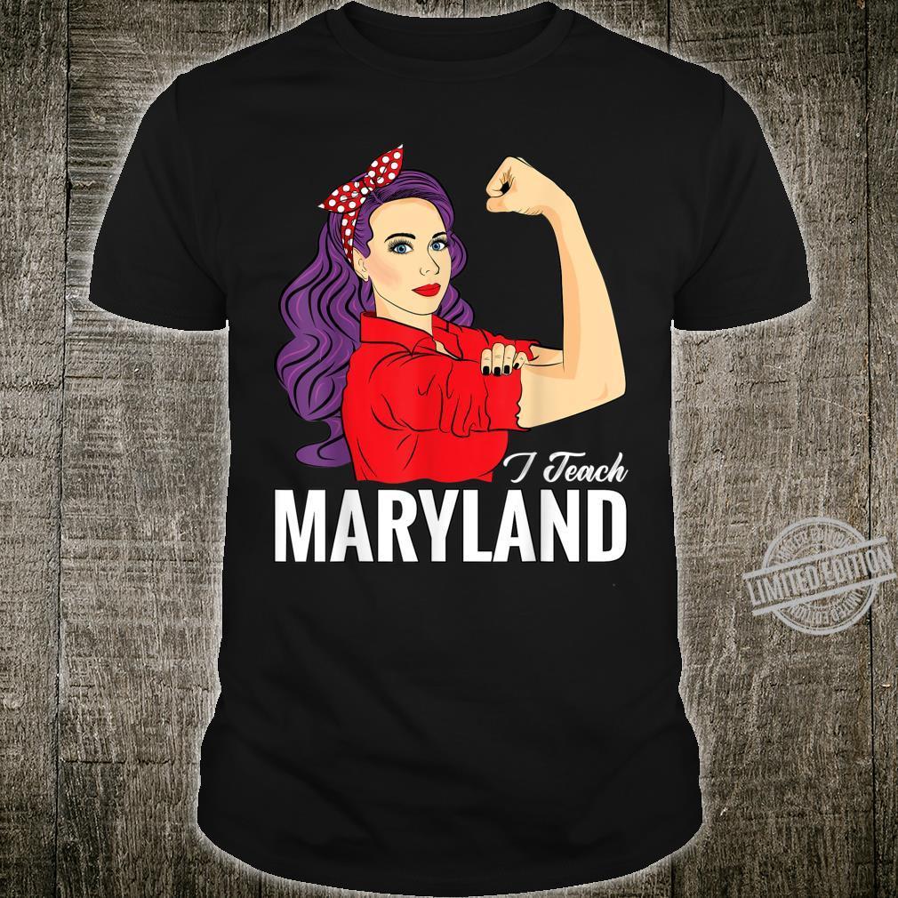 Maryland Teacher Day Red For Ed Maryland I Teach MD Shirt
