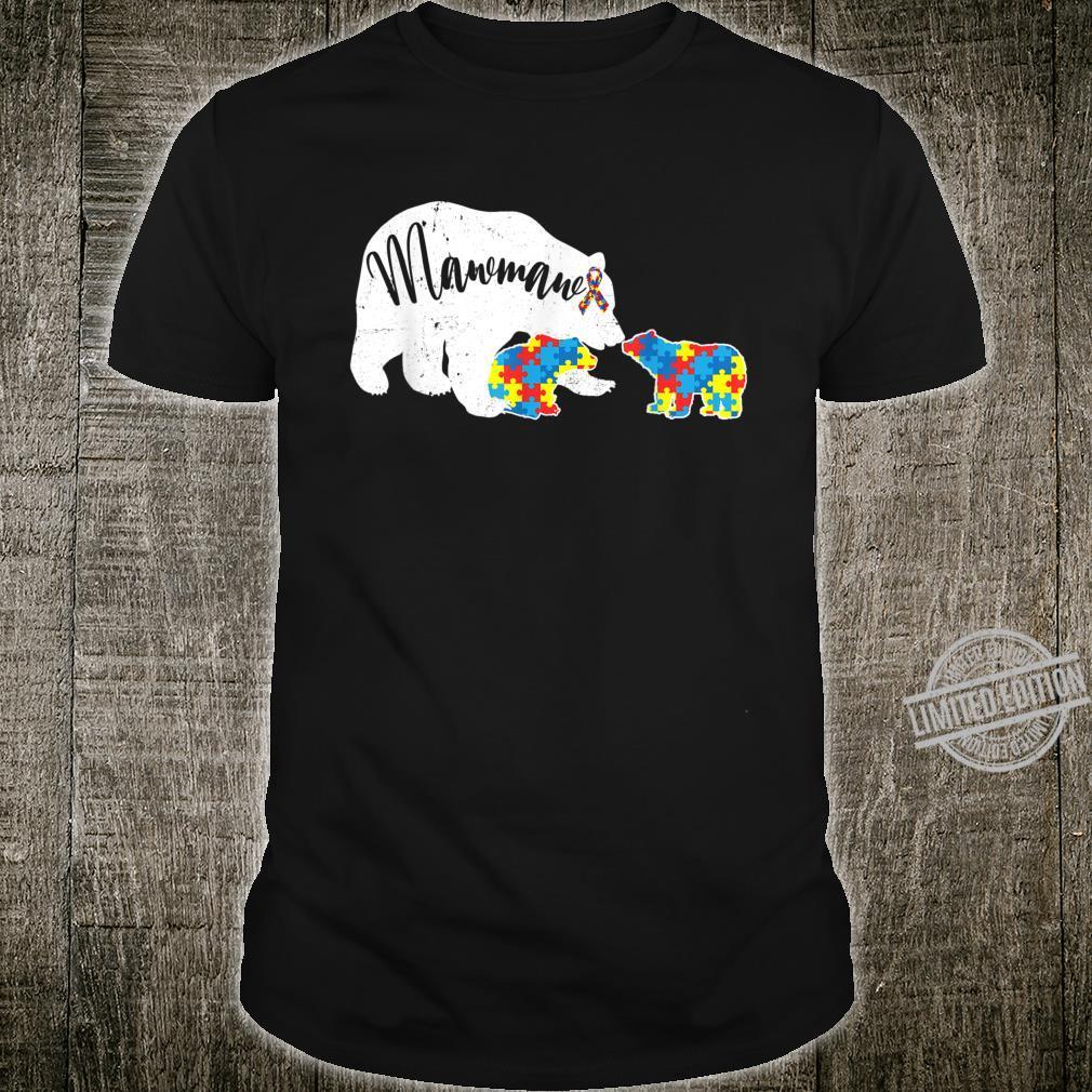 Mawmaw Bear Autism Awareness Month Autism Baby Bear Shirt