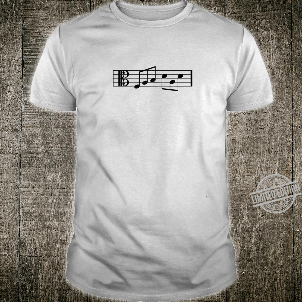 Mens Alto Clef Fab Dad Music Notes Fabulous Fathers Day Shirt