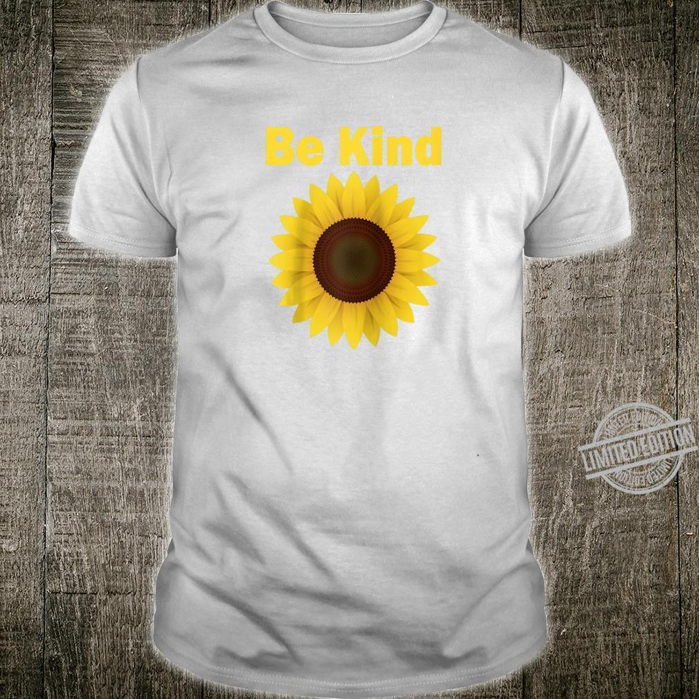 Mens Be Kind Sunflower Shirt