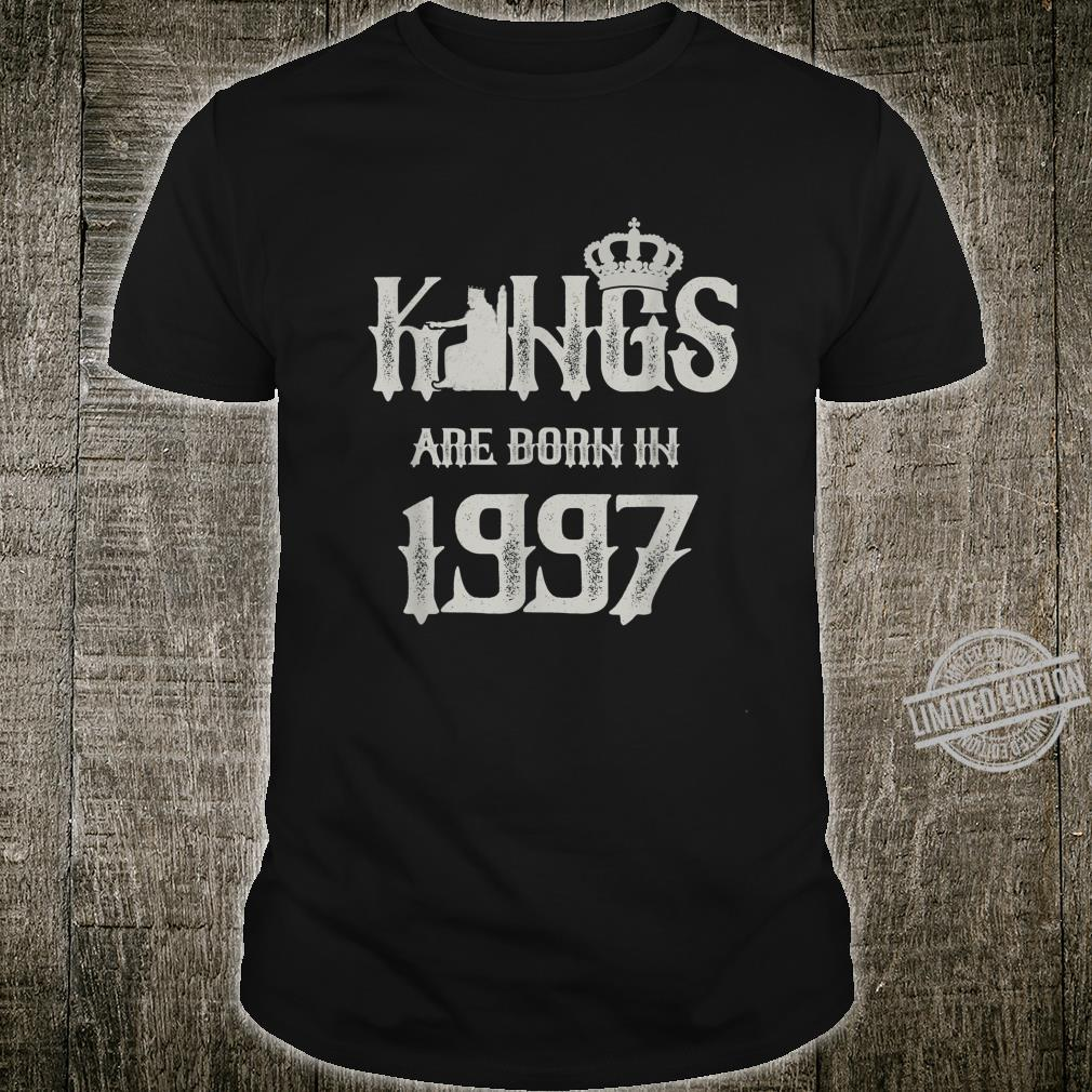 Mens Kings Are Born In 1997 23rd Birthday 23 Year Old Shirt