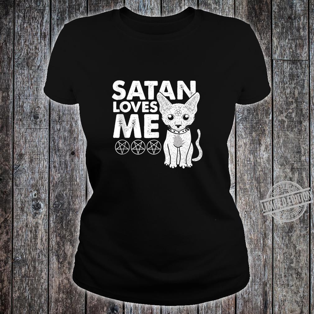 Not Today Jesus Cat Lucifer Shirt ladies tee