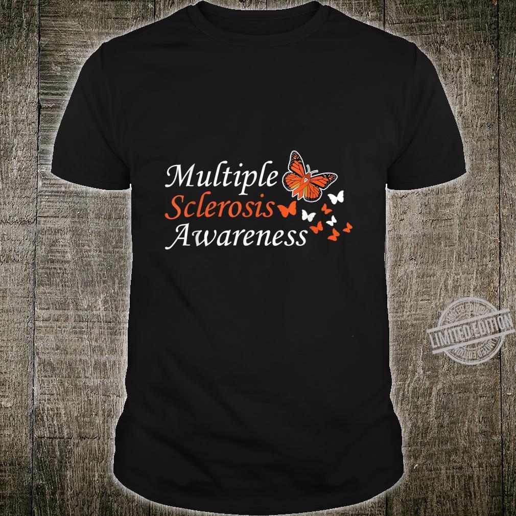 Orange Ribbon Multiple Sclerosis Fighter Survivor Shirt