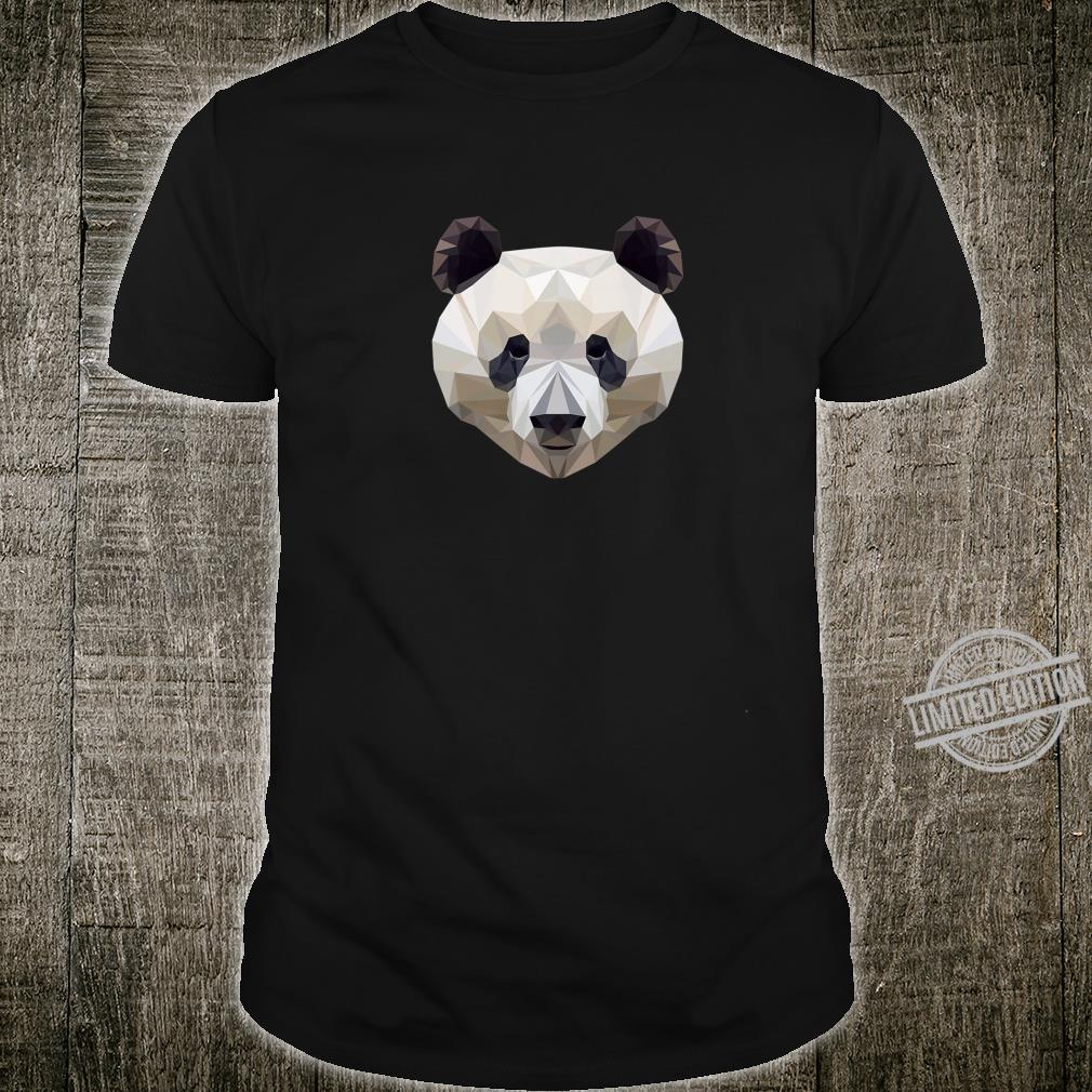 Panda Design Geometric Art Panda Shirt