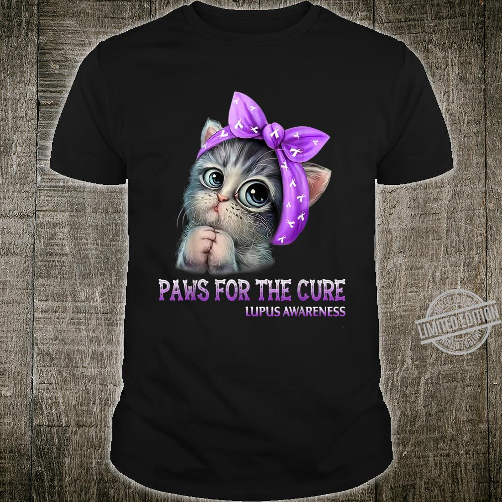 Paws For The Cure Lupus Awareness Cats For Mom Shirt