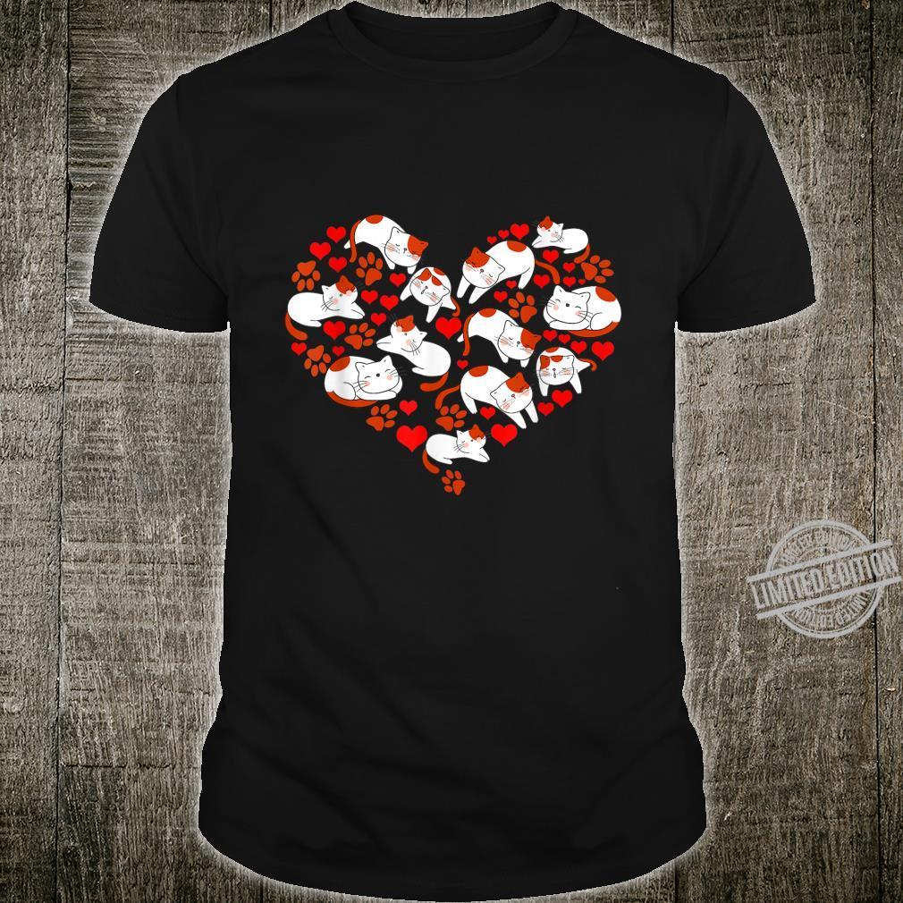 Pet Idea Cat Heart Animal Love Valentines Day Shirt