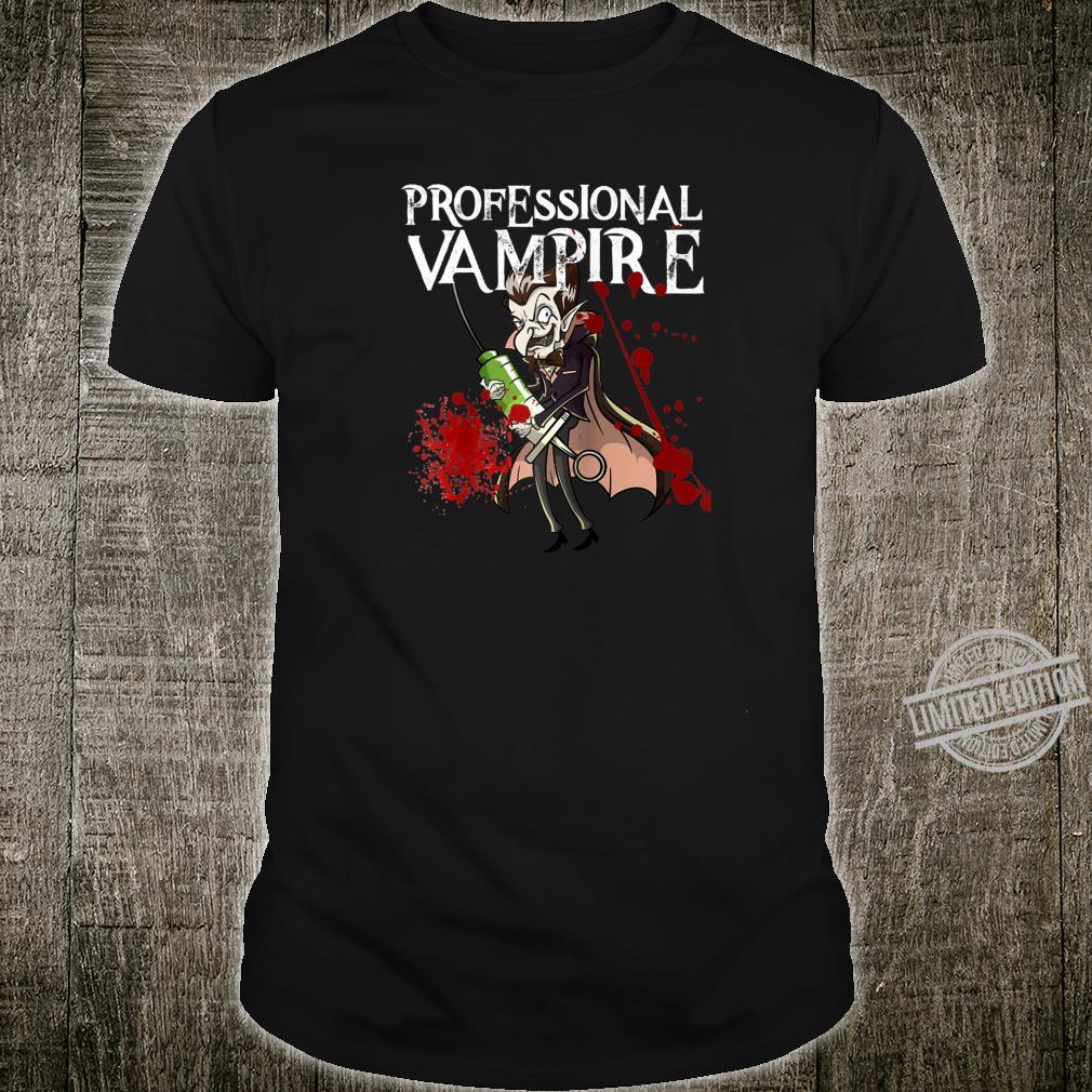 Phlebotomist Joke Meme Vampire Vlad Dracula Halloween Shirt