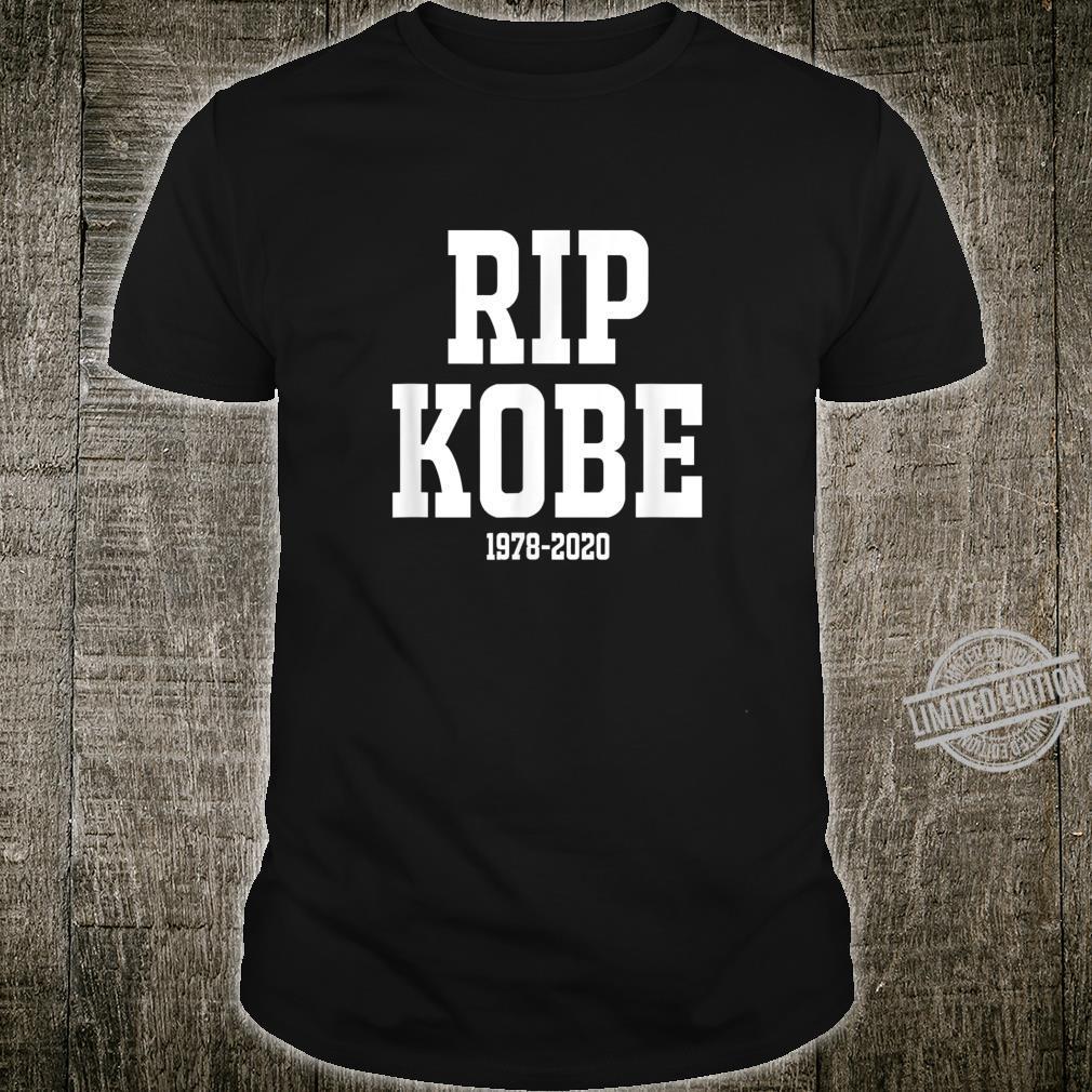 RipKobe Memorial Rest In Peace Basketball Legend Shirt