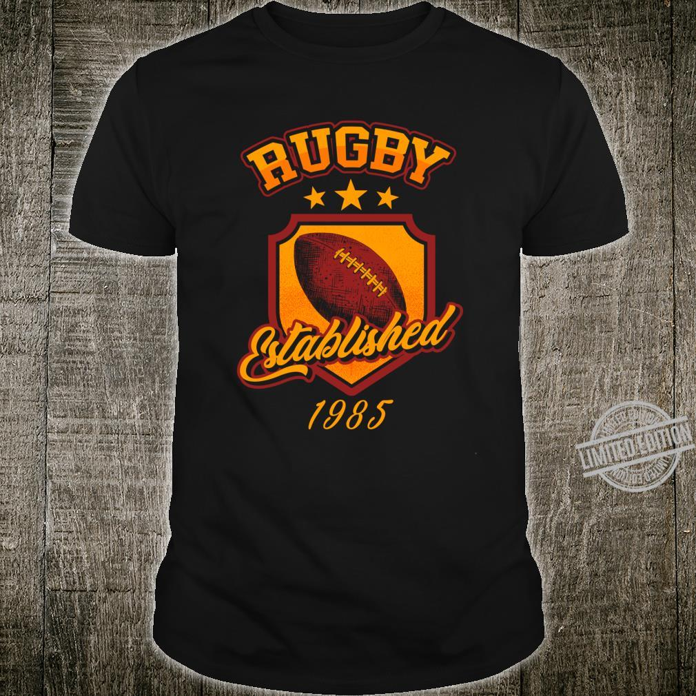 Rugby Established 1985 Distressed Rugby Player Shirt
