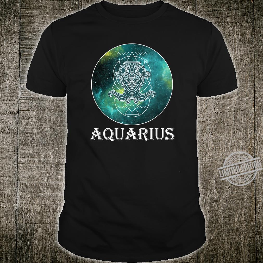 Sacred Geometry Zodiac Aquarius On Celestial Universe Shirt