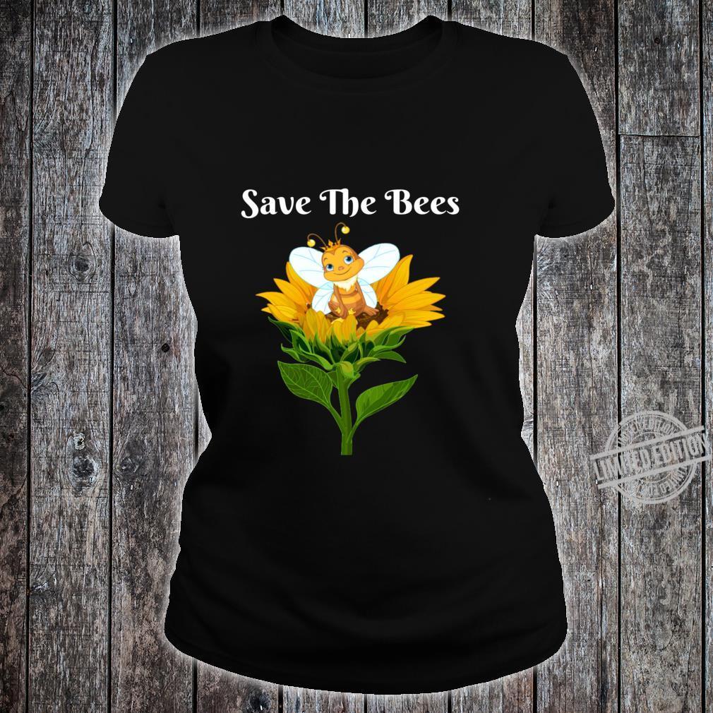 Save The Bees Sunflower Beekeepers Shirt ladies tee
