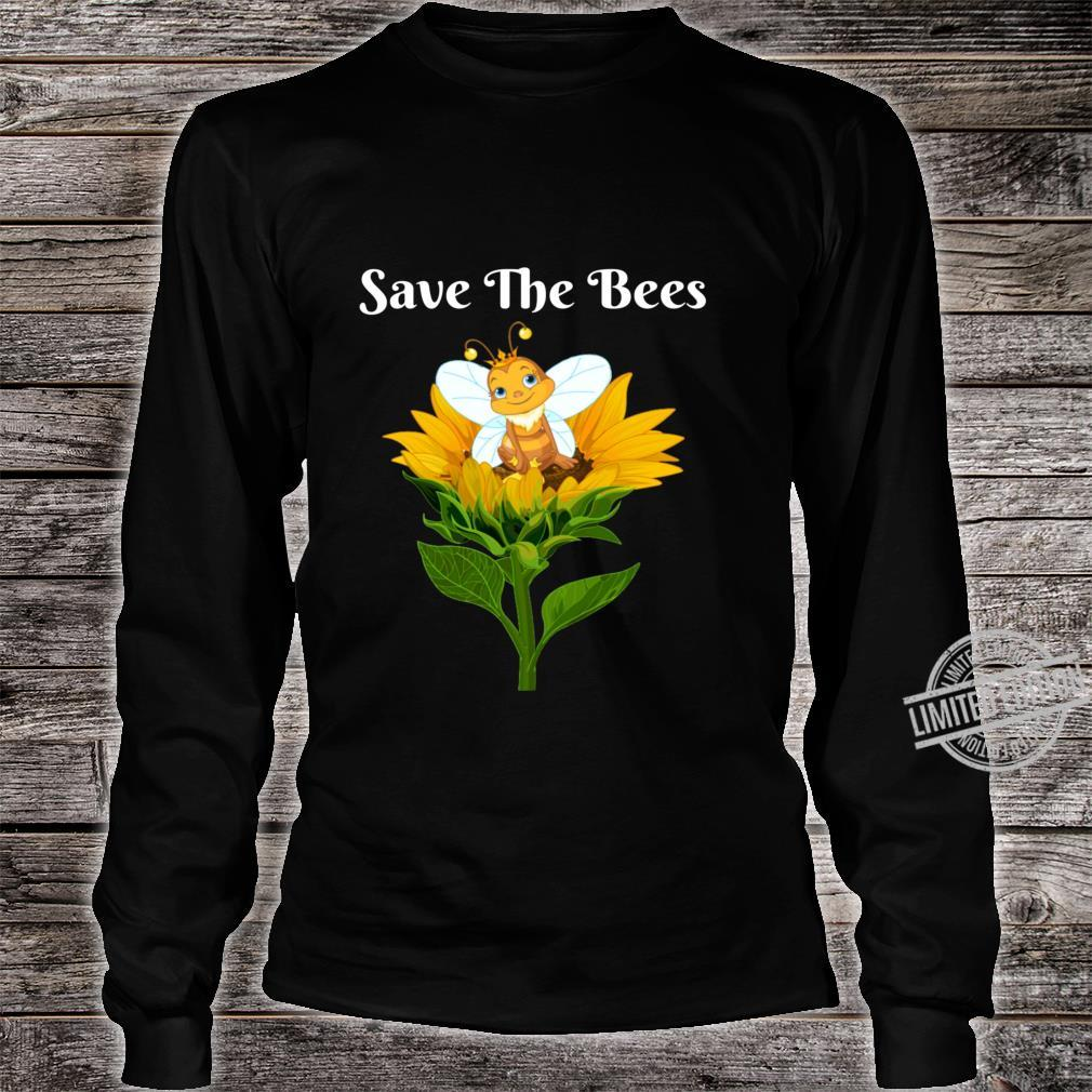 Save The Bees Sunflower Beekeepers Shirt long sleeved