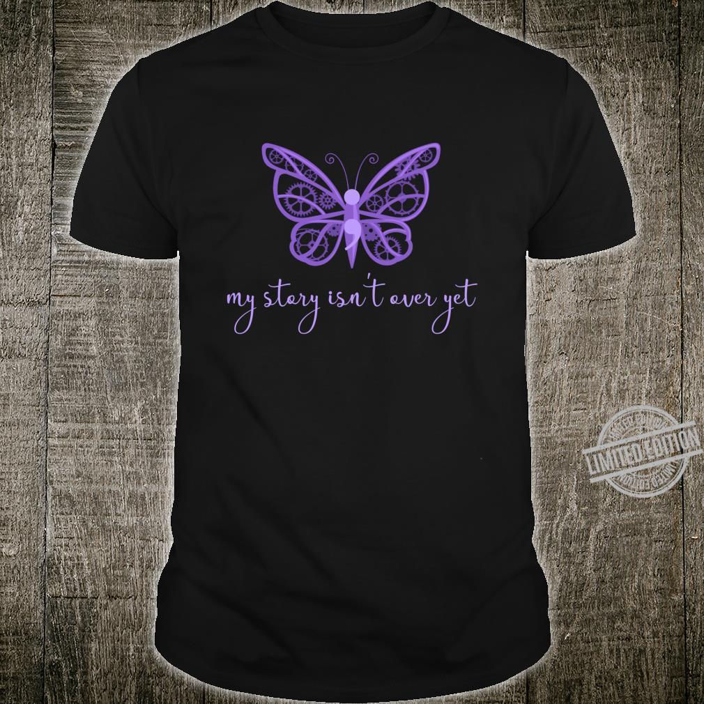 Semicolon Project Purple Butterfly Fibro Lupus Depression Shirt