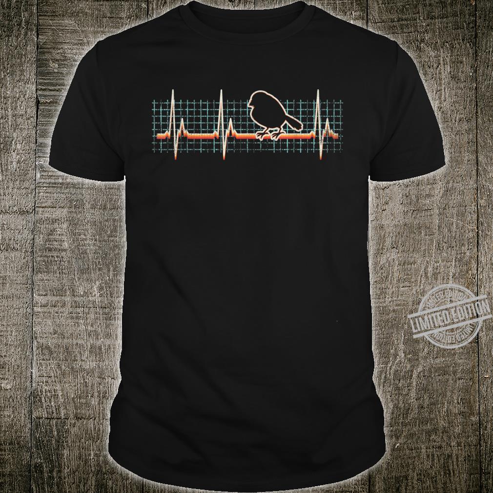 Spatz Retro Herzschlag Vintage 80er Jahre Geschenk Shirt