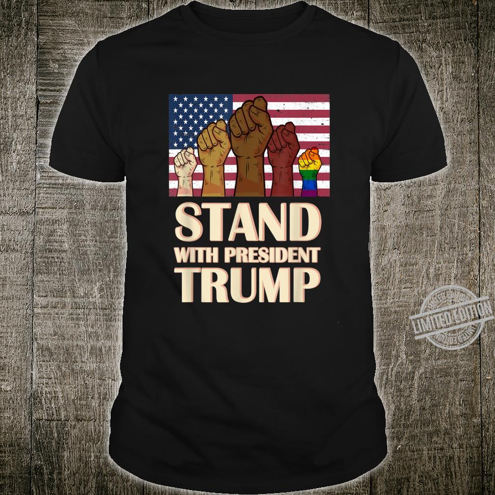 Stand With President Trump Supporter Shirt