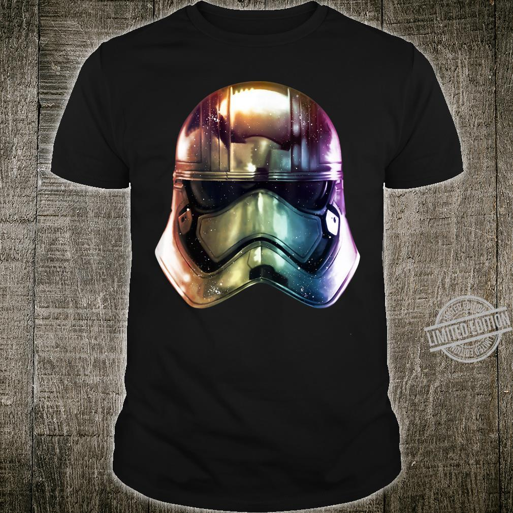 Star Wars The Force Awakens Captain Phasma Helmet Gradient Shirt