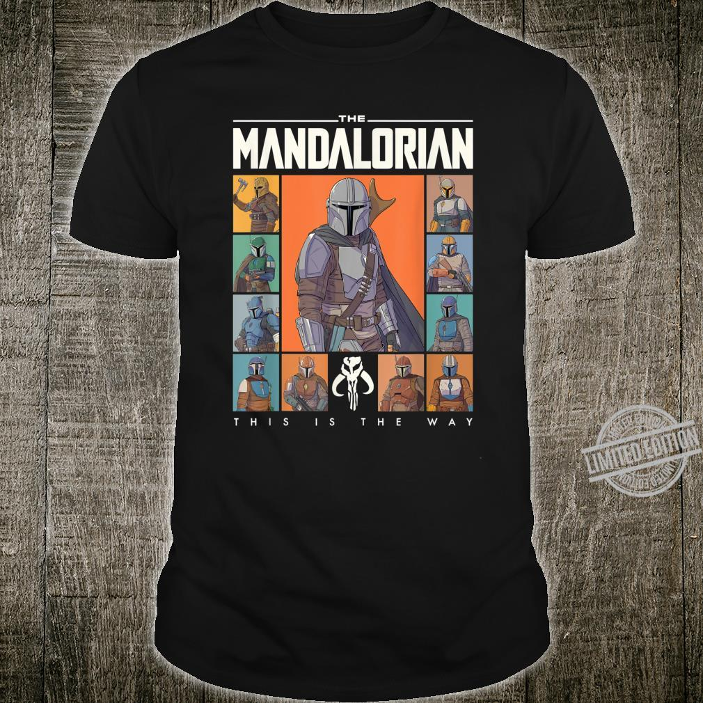 Star Wars The Mandalorian Character Grid This Is The Way Shirt