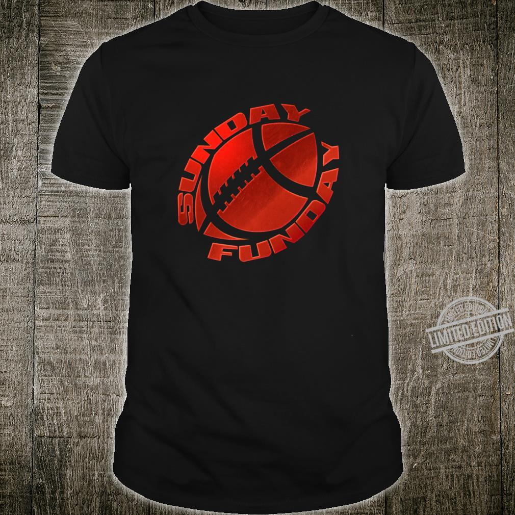 Sunday Funday Football Red Design Shirt