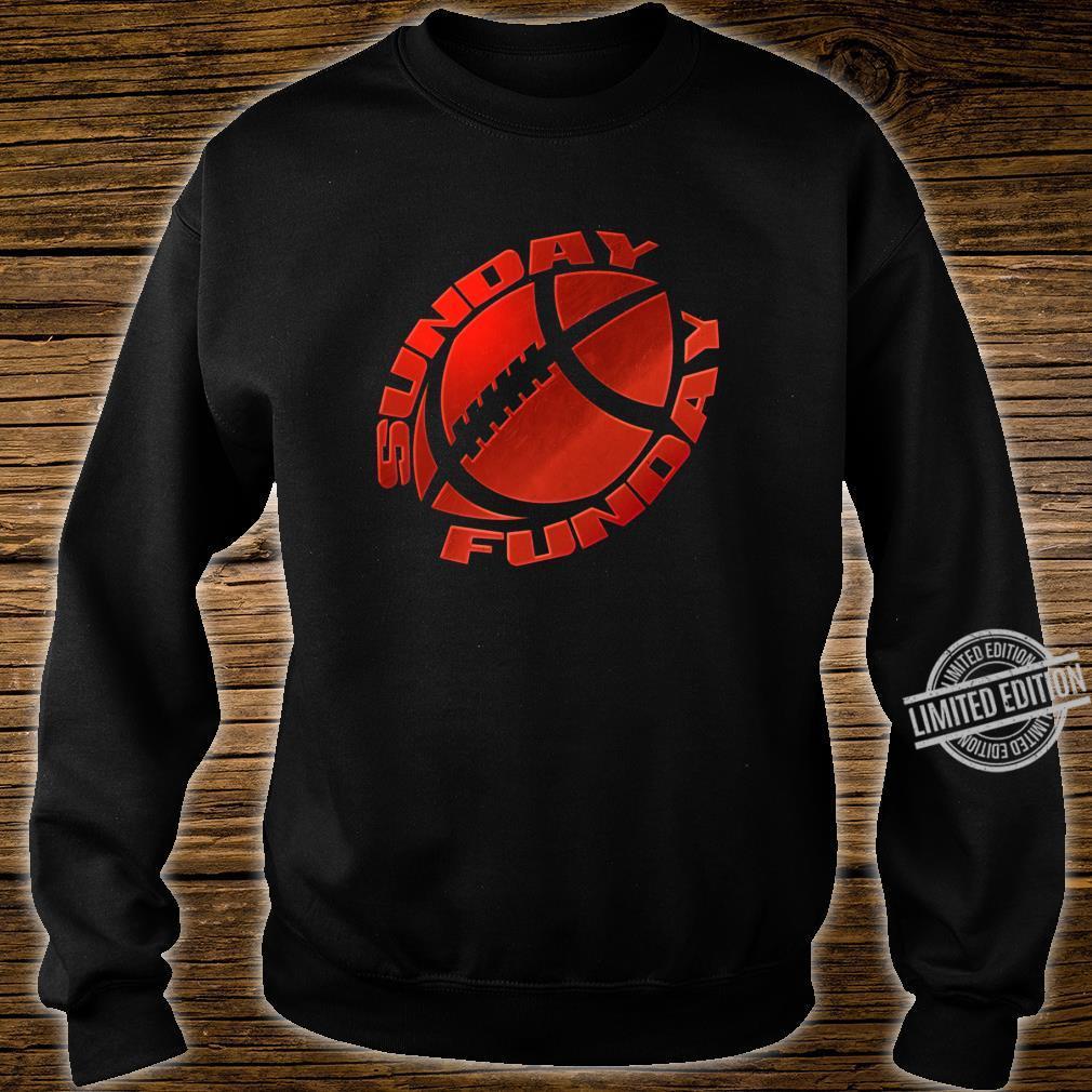 Sunday Funday Football Red Design Shirt sweater