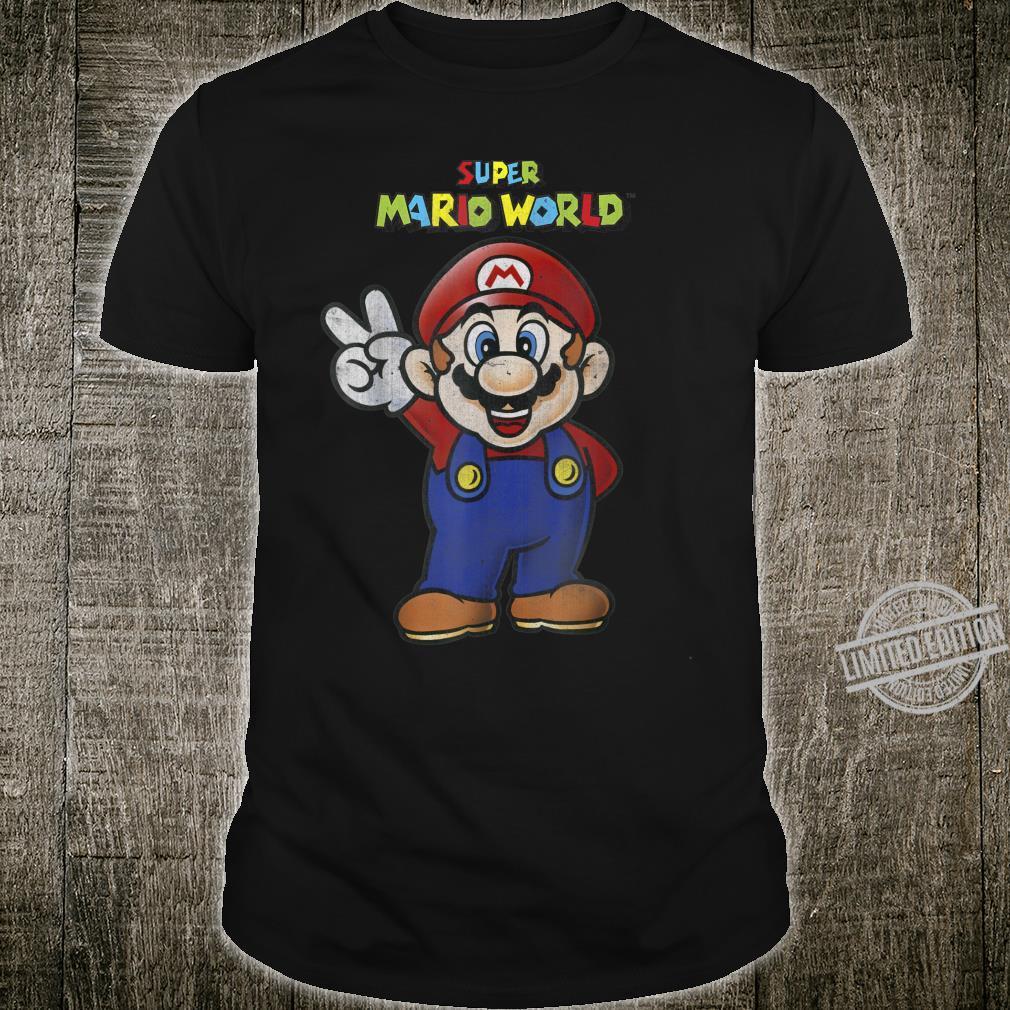 Super Mario World Mario Peace Shirt