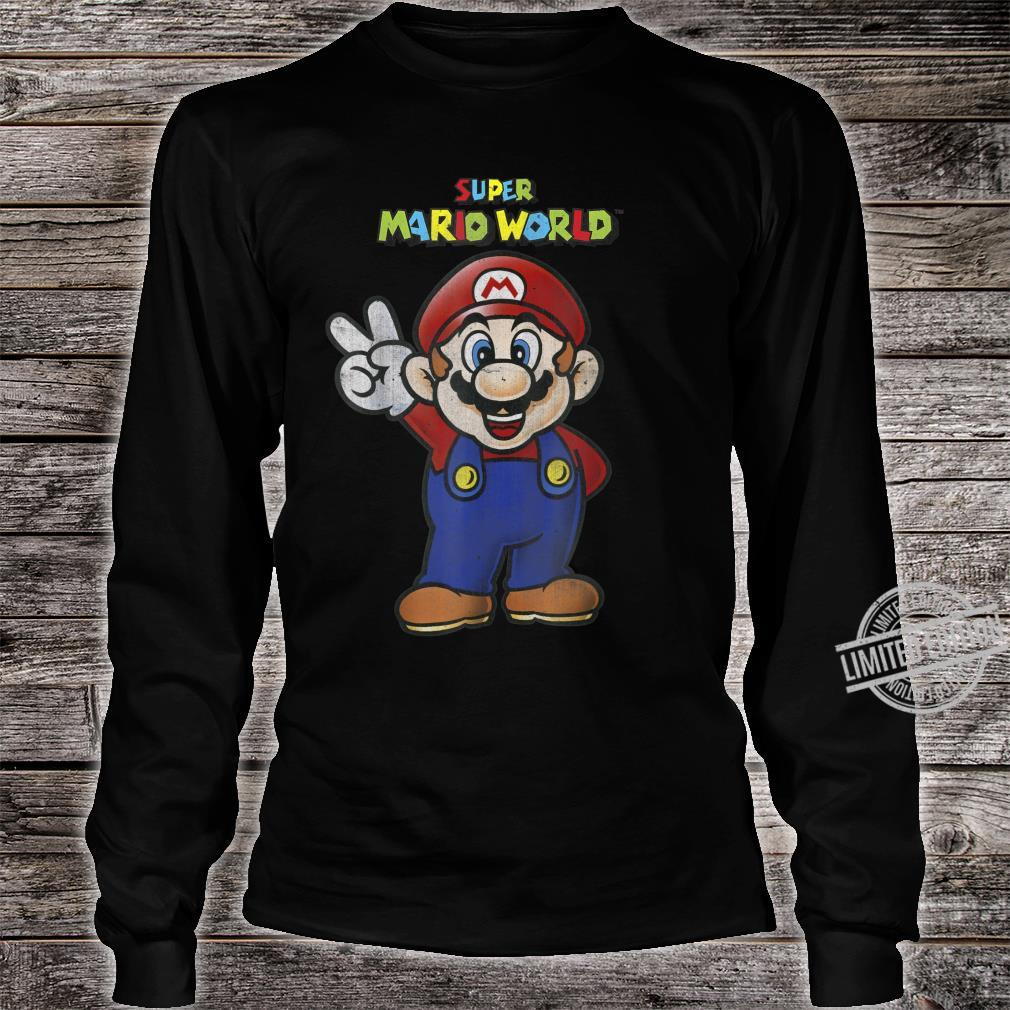 Super Mario World Mario Peace Shirt long sleeved
