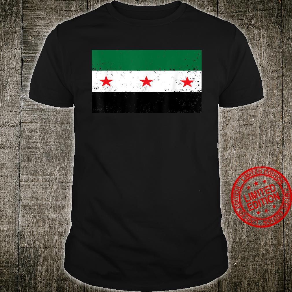 Syria Independence Flag Vintage Distressed Shirt