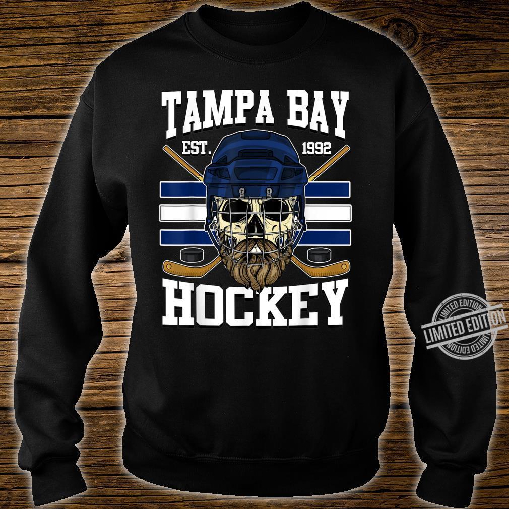 Tampa Bay Hockey Shirt with Bearded Skull, Puck and Helmet Shirt sweater