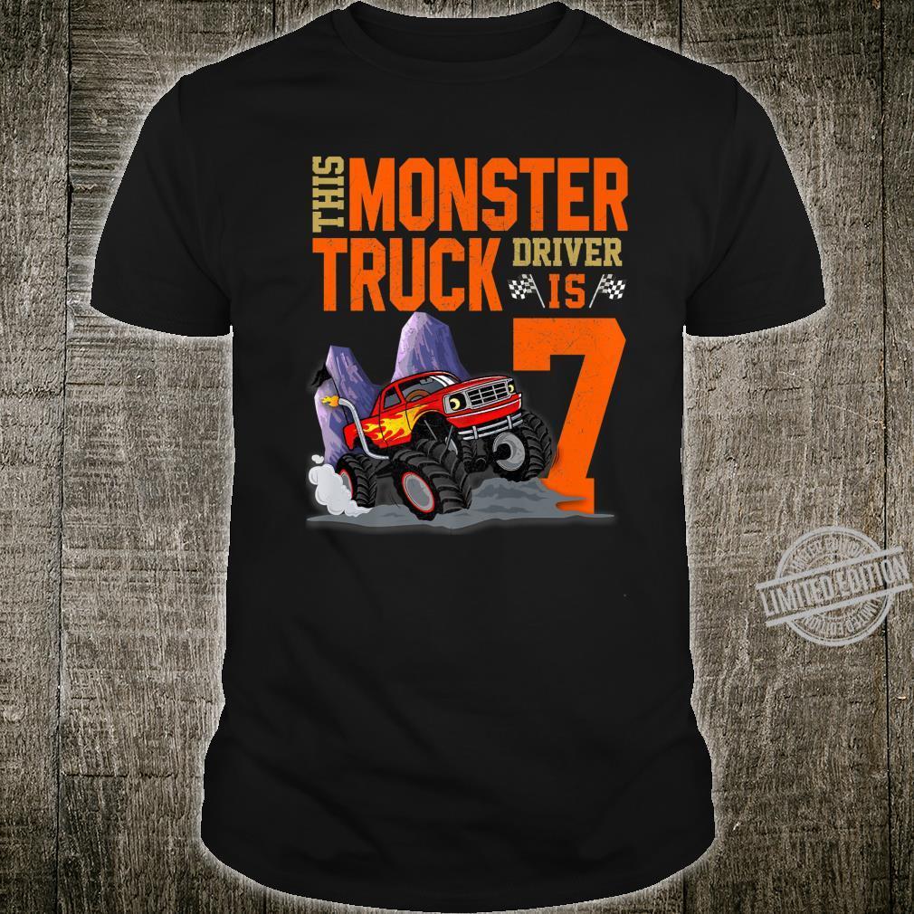 This Monster Truck Driver is 7 Monster Truck For Boy Shirt