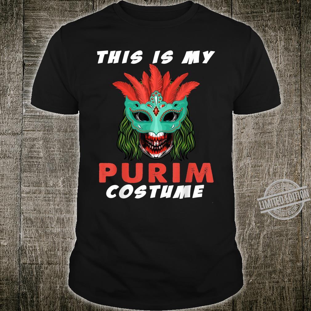 This is My Purim Costume Jewish Crazy Clown Shirt