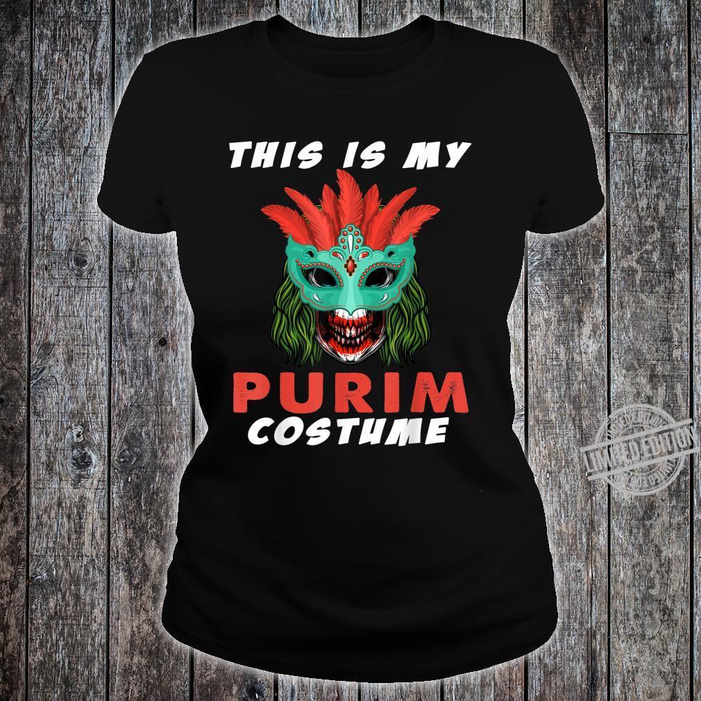 This is My Purim Costume Jewish Crazy Clown Shirt ladies tee