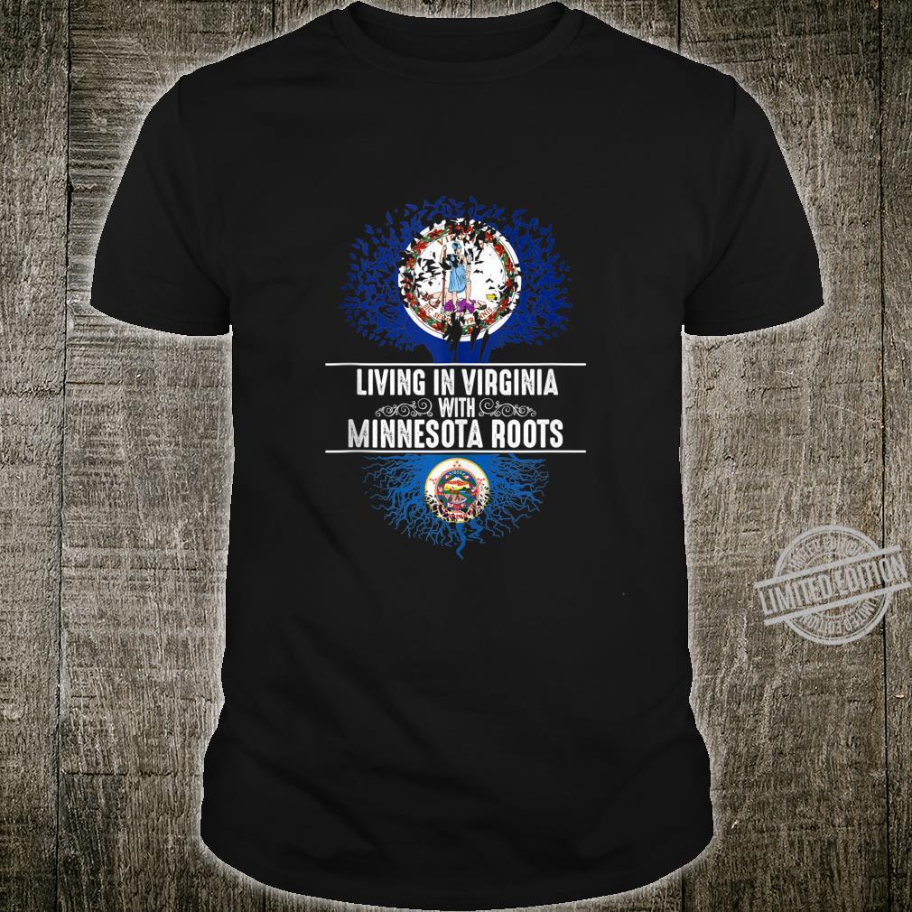 Virginia Home Minnesota Roots State Tree Flag Shirt
