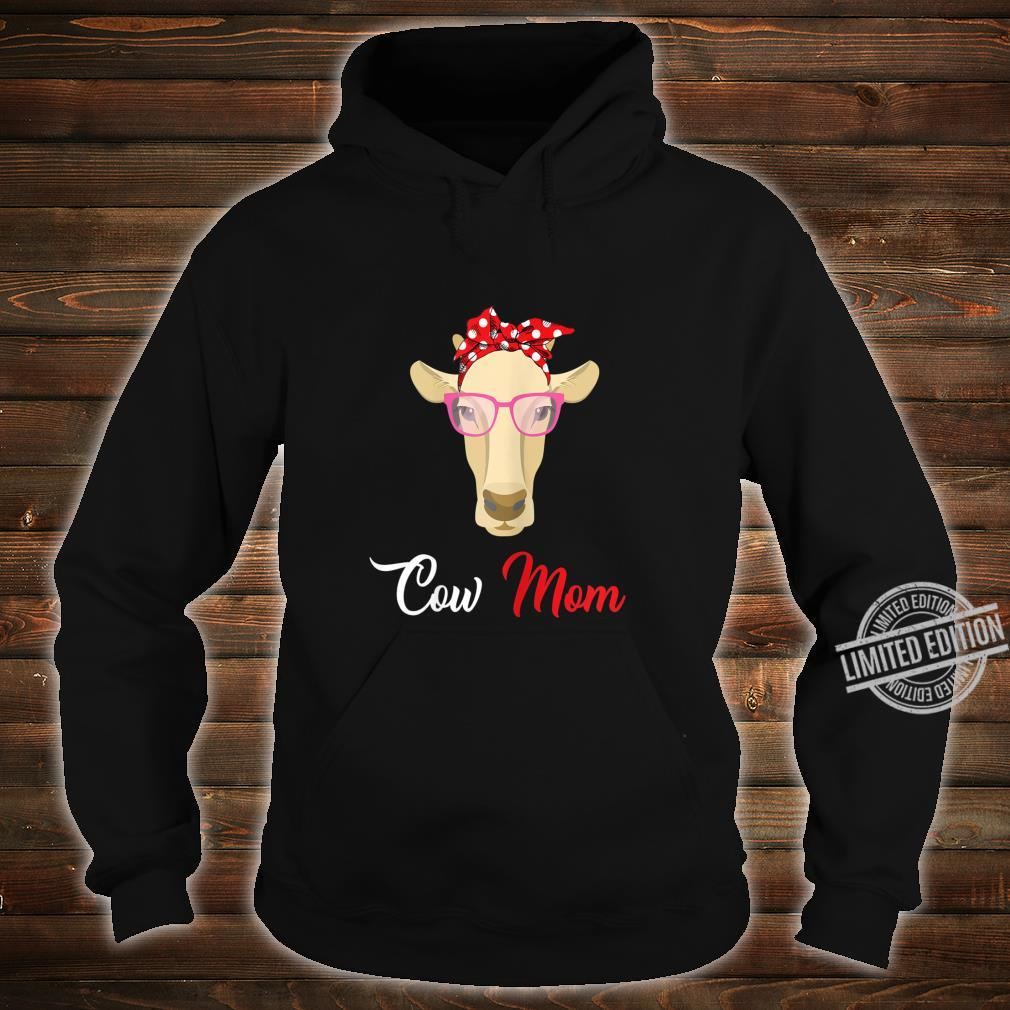 Womens Cow Mom For Mother's Day Shirt hoodie