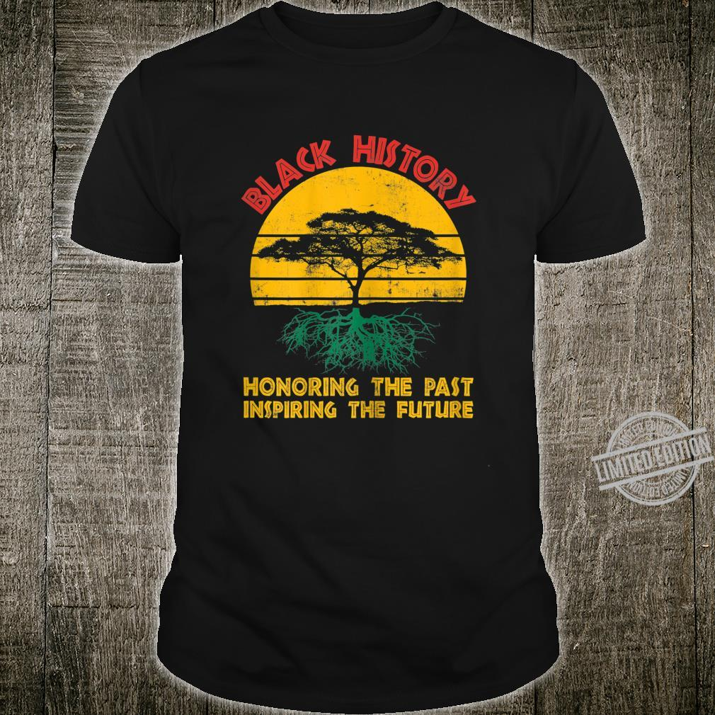 Womens Honoring Past Inspiring Future Black History Month Shirt