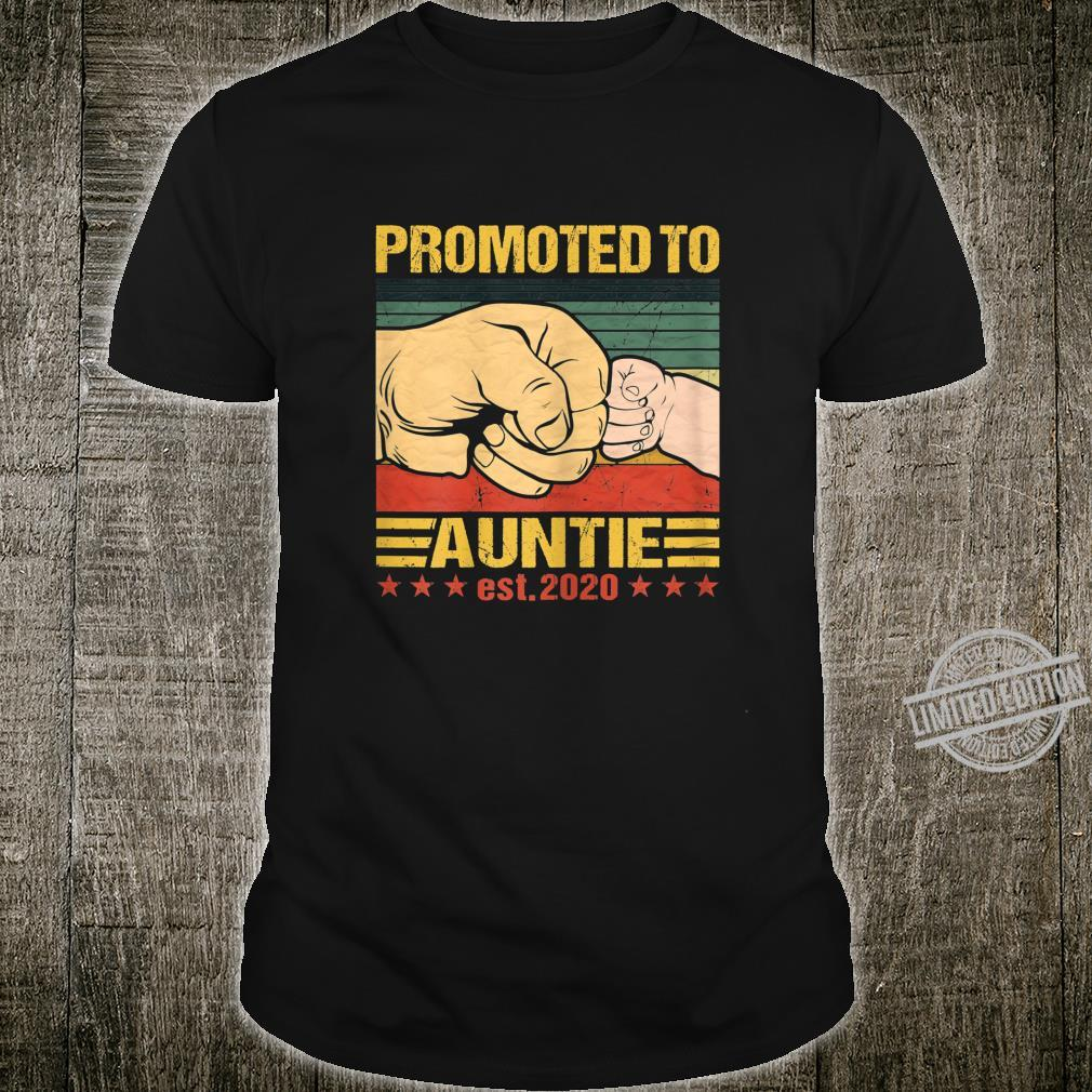 Womens Promoted To Auntie 2020 Vintage New Mom Mothers Day Shirt