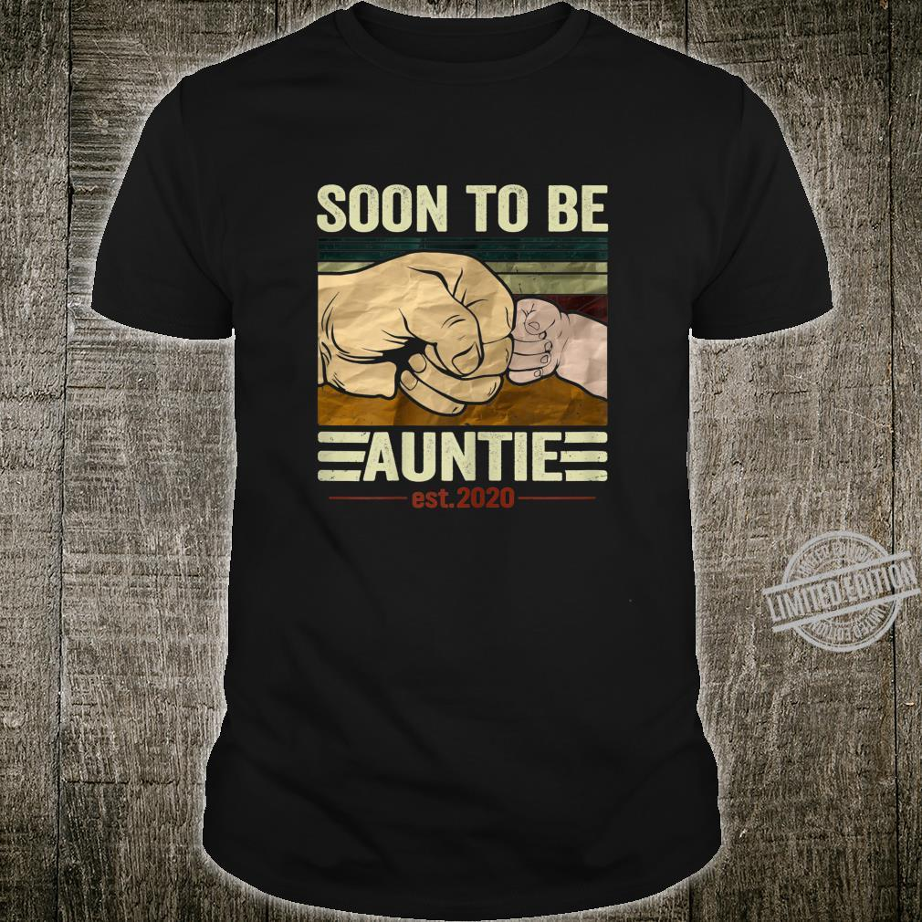 Womens Soon To Be Auntie 2020 Vintage New Mom Mothers Day Shirt