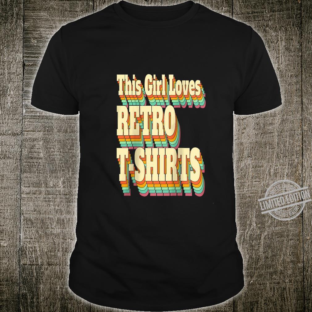 Womens This Girl Loves Retro 's Retro Just a Girl Shirt