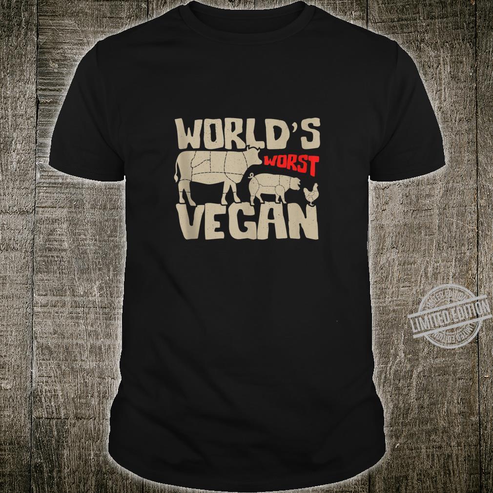 World's Worst Vegan BBQ Cookout Meat Chart Shirt