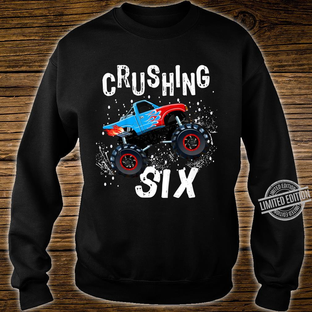 Youth Boy Sixth Birthday Turning 6 Monster Truck Six Year Old Shirt sweater